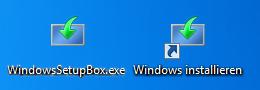 Desktop Verknüpfung zum installieren