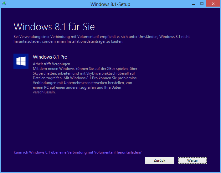 Windows 8.1 Pro Download-Version