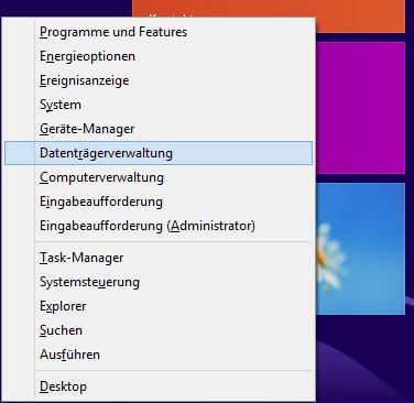 Windows 8.1 Dualboot: Datenträgerverwaltung aufrufen