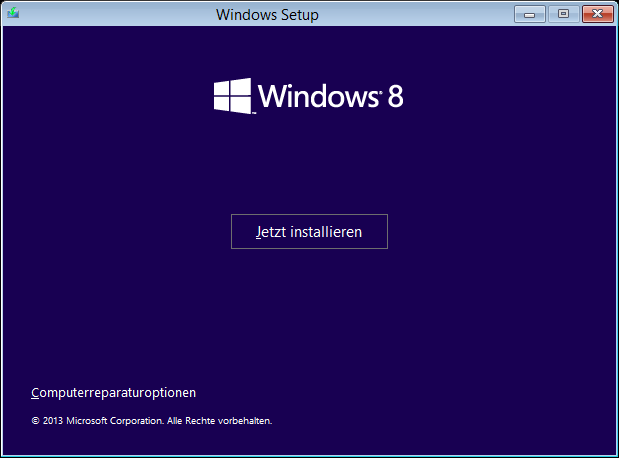Windows 8.1 Installation: Computerreparaturoptionen