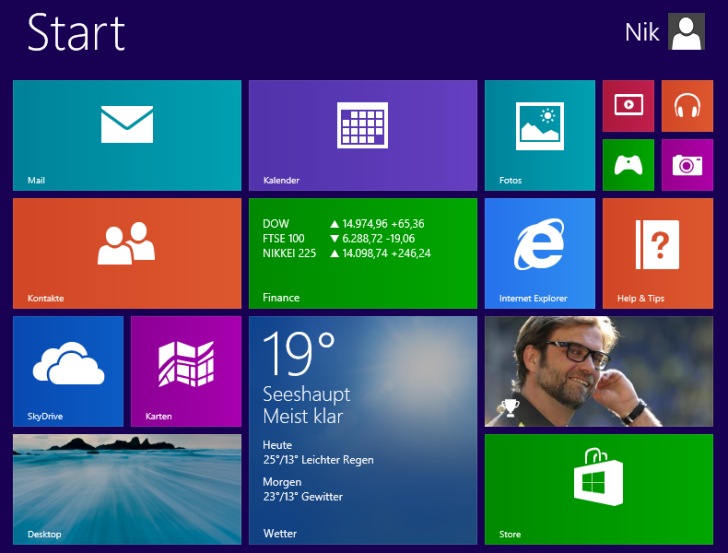 Windows 8.1 Installation: Fertiger Desktop