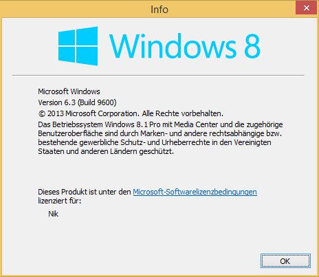 Windows 8.1 winver