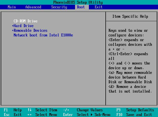 BIOS Einstellung von CD/DVD booten
