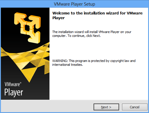 VMware Start der Installation