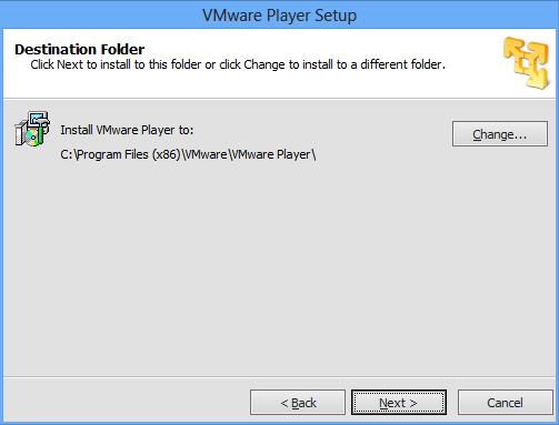VMware Installations-Ort