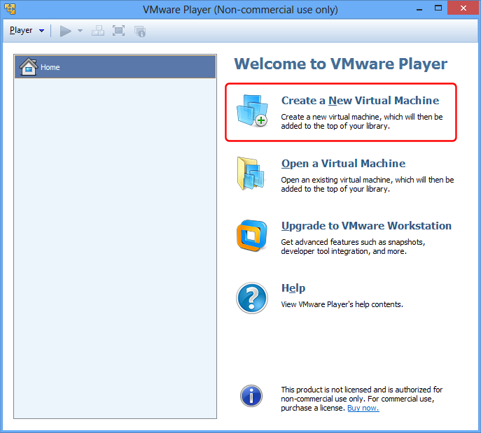 VMware Neue virtuelle Maschine erstellen