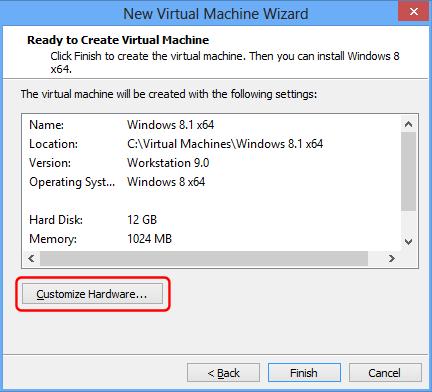 VMware Übersicht der fertigen virtuellen Maschine
