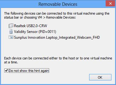 VMware zusätzliche Geräte
