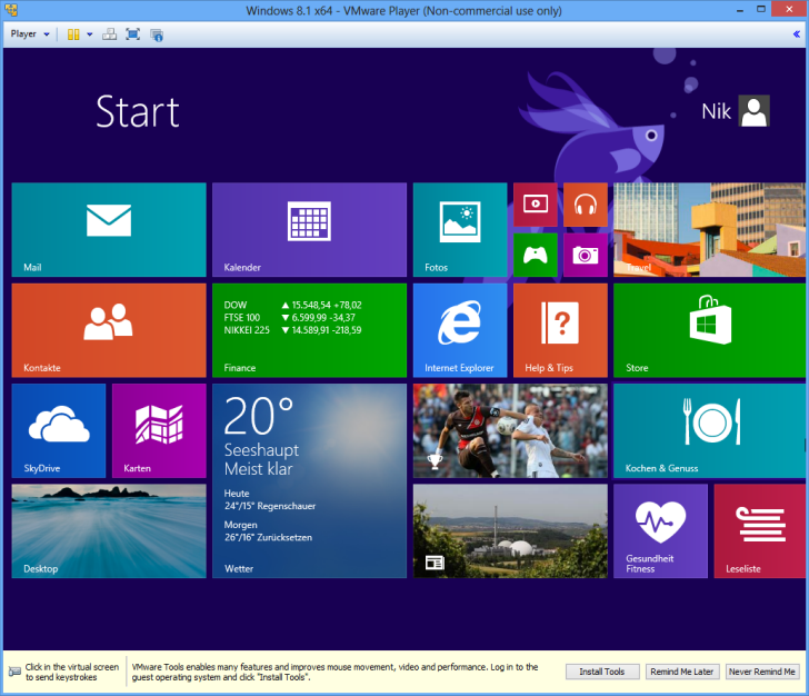 Windows 8.1 fertiges Startmenü