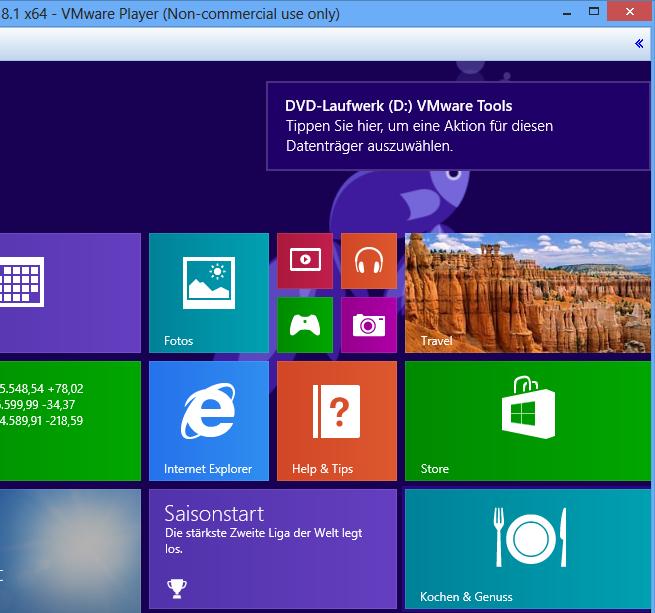 VMware-Tools starten