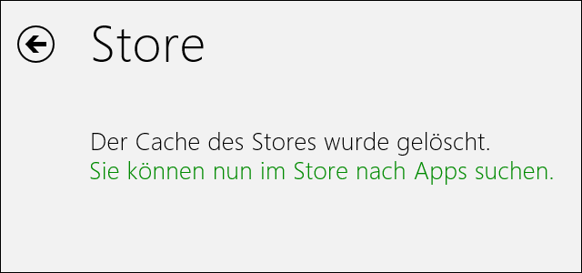 Windows Store nach Reset