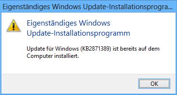 Windows 8 Update schon installiert