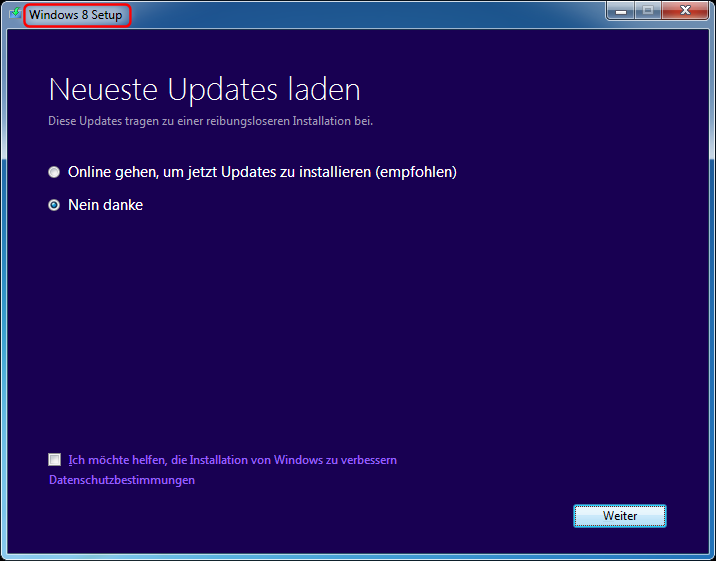 Windows 7 Update nach Windows 8,