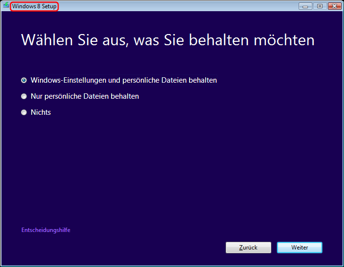 Windows Vista Update nach Windows 8