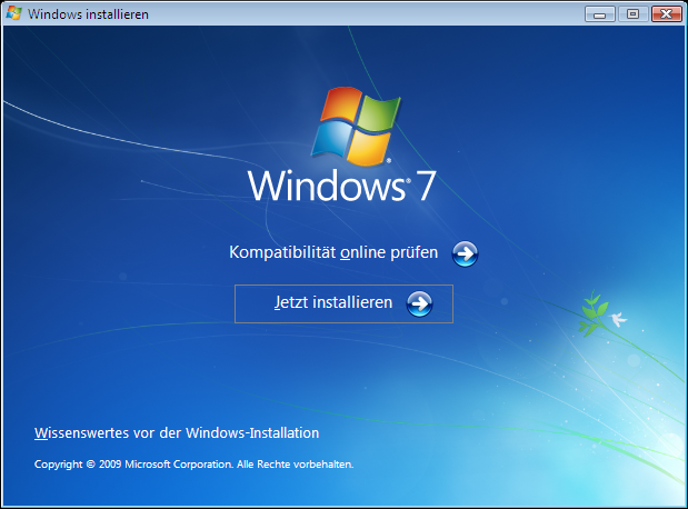 Windows Vista Update nach Windows 7 Schritt 1