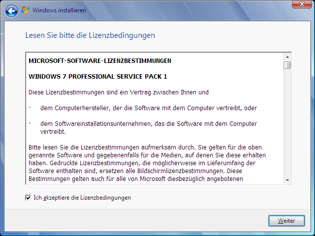 Windows Vista Update nach Windows 7 Schritt 3