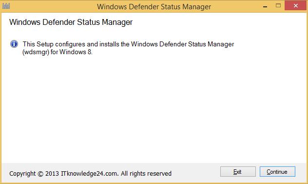 Defender Status Manager starten