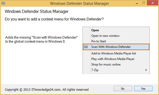 Defender Status Manager konfigurieren